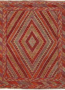 Multi Colored Mashwani 5' x 5' 11 - No. 61885