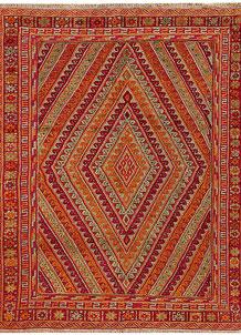 Multi Colored Mashwani 5' 2 x 6' 3 - No. 61899