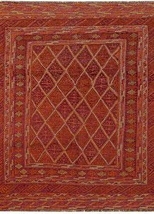 Multi Colored Mashwani 5' x 6' 2 - No. 61902