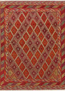 Multi Colored Mashwani 5' 3 x 6' 3 - No. 61905
