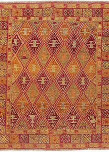 Multi Colored Mashwani 5' 3 x 5' 11 - No. 61907