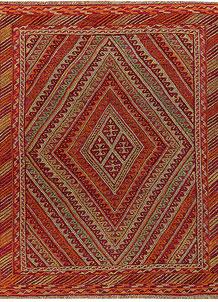 Multi Colored Mashwani 4' 11 x 5' 11 - No. 61909