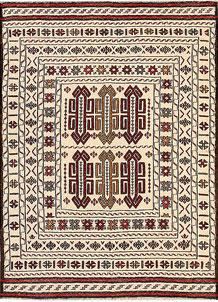 Old Lace Soumak 4' 4 x 5' 4 - No. 61938