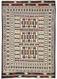 Old Lace Soumak 4' 2 x 5' 11 - No. 61945