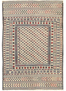 Old Lace Soumak 4' 2 x 6' - No. 61947