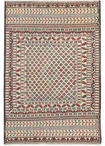 Old Lace Soumak 4' 2 x 5' 7 - No. 61951