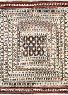 Old Lace Soumak 4' 3 x 5' 6 - No. 61954
