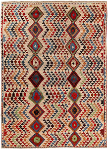 Multi Colored Baluchi 5' 7 x 7' 9 - No. 62381