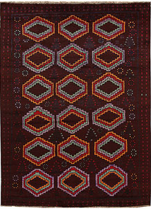 Multi Colored Baluchi 5' 11 x 8' - No. 62384