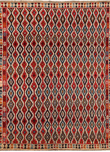 Multi Colored Baluchi 5' 6 x 7' 3 - No. 62385