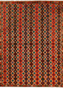 Multi Colored Baluchi 5' 9 x 7' 5 - No. 62386
