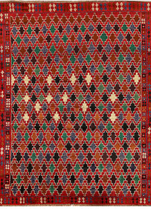 Multi Colored Baluchi 6' x 7' 8 - No. 62392