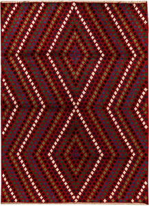 Multi Colored Baluchi 7' x 9' 6 - No. 62397