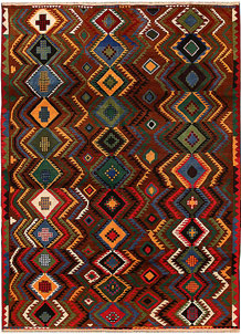 Multi Colored Baluchi 6' 8 x 9' 3 - No. 62398
