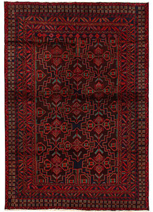 Multi Colored Baluchi 6' 5 x 9' 8 - No. 62400
