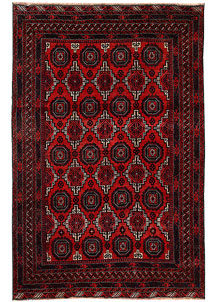 Multi Colored Baluchi 5' 4 x 8' 1 - No. 62404