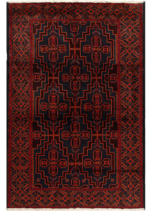 Multi Colored Baluchi 6' 5 x 9' 7 - No. 62405