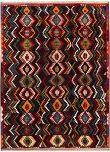 Multi Colored Baluchi 6' 9 x 9' 1 - No. 62411