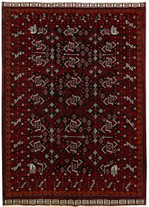 Multi Colored Baluchi 6' 8 x 9' 5 - No. 62412