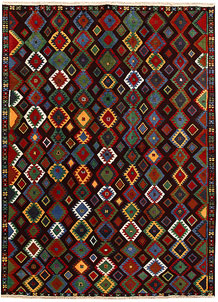 Multi Colored Baluchi 6' 8 x 9' 5 - No. 62413