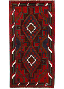 Multi Colored Baluchi 3' 6 x 6' 7 - No. 62422