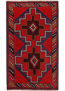 Multi Colored Baluchi 3' 7 x 6' 1 - No. 62423