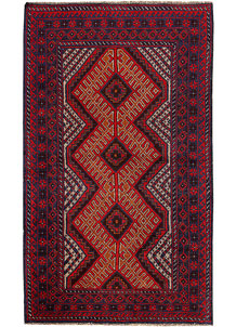 Multi Colored Baluchi 3' 5 x 5' 9 - No. 62424