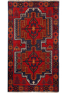 Multi Colored Baluchi 3' 7 x 6' 2 - No. 62425