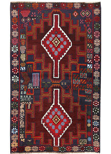 Multi Colored Baluchi 3' 7 x 5' 11 - No. 62426