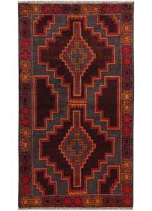 Multi Colored Baluchi 3' 7 x 6' 3 - No. 62429