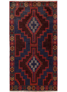 Multi Colored Baluchi 3' 5 x 6' 5 - No. 62430