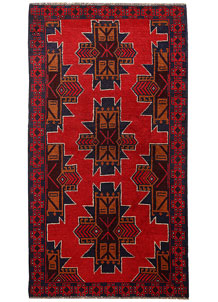 Multi Colored Baluchi 3' 5 x 6' 3 - No. 62432