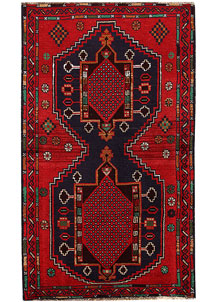Multi Colored Baluchi 3' 7 x 6' 3 - No. 62433