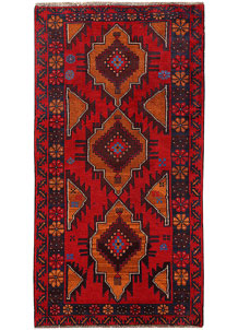 Multi Colored Baluchi 3' 7 x 6' 8 - No. 62434