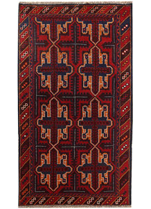 Multi Colored Baluchi 3' 7 x 6' 3 - No. 62435
