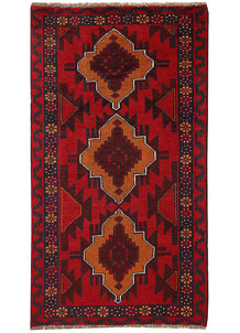 Multi Colored Baluchi 3' 6 x 6' 4 - No. 62436