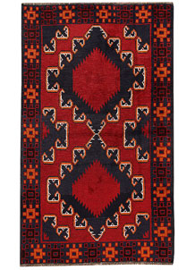 Multi Colored Baluchi 3' 6 x 6' 4 - No. 62437