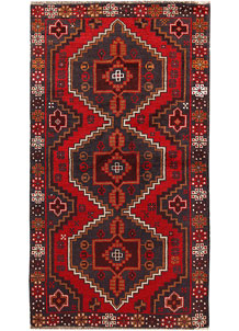 Multi Colored Baluchi 3' 7 x 6' 7 - No. 62438