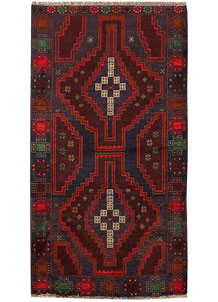 Multi Colored Baluchi 3' 5 x 6' 3 - No. 62439