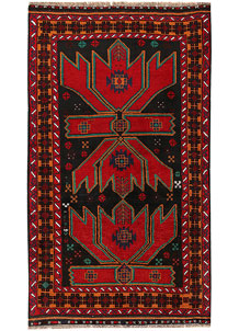 Multi Colored Baluchi 3' 6 x 6' 2 - No. 62440