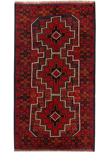 Multi Colored Baluchi 3' 6 x 6' 5 - No. 62441