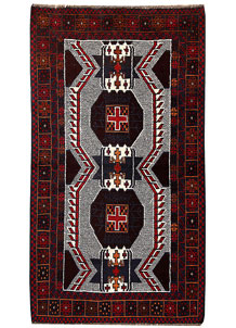 Multi Colored Baluchi 3' 5 x 6' 1 - No. 62443