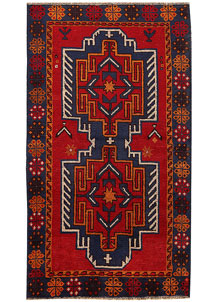 Multi Colored Baluchi 3' 6 x 6' 3 - No. 62444