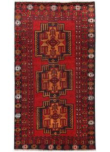 Firebrick Baluchi 3' 6 x 6' 6 - No. 62494