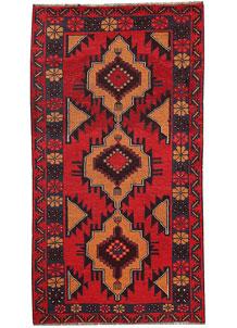 Firebrick Baluchi 3' 6 x 6' 5 - No. 62497