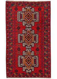 Firebrick Baluchi 3' 8 x 6' 2 - No. 62498