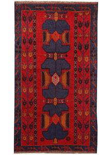 Firebrick Baluchi 3' 8 x 6' 5 - No. 62514