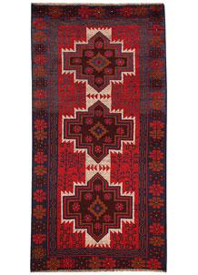 Firebrick Baluchi 3' 5 x 6' 6 - No. 62517