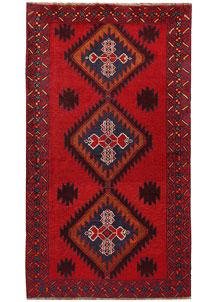 Firebrick Baluchi 3' 8 x 6' 7 - No. 62518