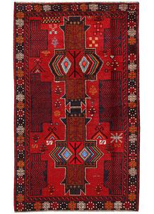 Firebrick Baluchi 3' 10 x 6' 6 - No. 62519